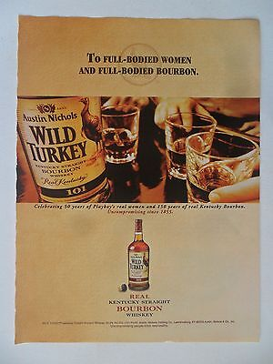 2004 Print Ad Wild Turkey Bourbon Whiskey ~ To Full-Bodied Women and Bourbon