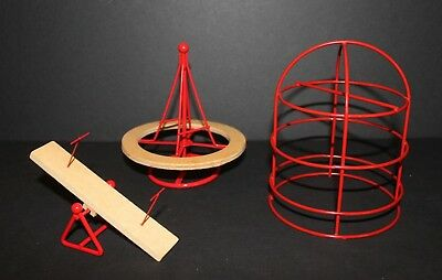 Dollhouse Miniatures Playground 1:12 Scale Merry-Go-Round, Teeter Totter, Jungle