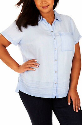 b5e2ccfaf19 REBEL WILSON X ANGELS Button Up Collar Shirt Womens Plus Size 2X NWT  79
