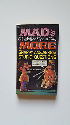 Al Jaffee Spews Out More Snappy Answers To Stupid Questions Pb 1972