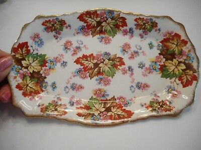 """Vintage James Kent Chintz Made in England """"Maple"""" Pin tray"""