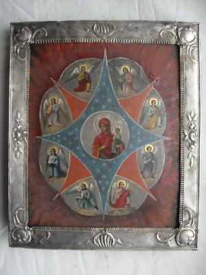 Antique icon 18-19 century, 100% original burning Bush