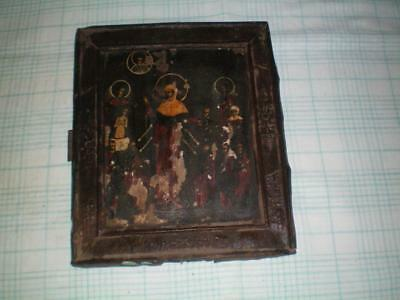 Antique icon 17-18 century, 100% original  Joy for those who sorrow