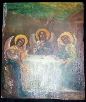 "Ancient icon ""the Trinity"",19th century"