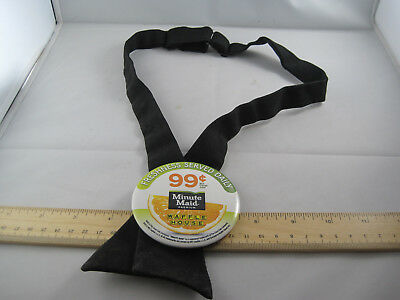 Authentic Waffle House Neck Tie Minute Maid Orange Pin