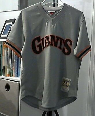 efd86976902 Will Clark San Francisco Giants Mitchell   Ness Authentic 1989 BP Jersey  Medium