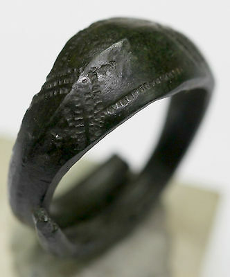 ancient Viking Twisted bronze finger ring GREAT CONDITION You can use.