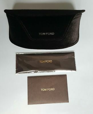 Tom Ford Large Brown Velvet Sunglass Case With Warranty Card & Cleaning Cloth