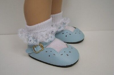 LT (Light) BLUE Scallop Doll Shoes For Chatty Cathy (Debs)