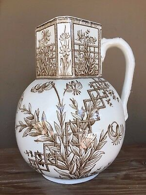 Aesthetic movement 19th Century water pitcher. Turner & Sons