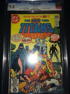 New Teen Titans #2 CGC 9.8 First Appearance Deathstroke - Perez Art - 1980