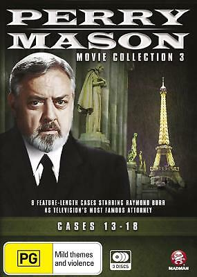PERRY MASON Movie Collection 3 Cases 13-18 (Region 4) DVD The Complete Series