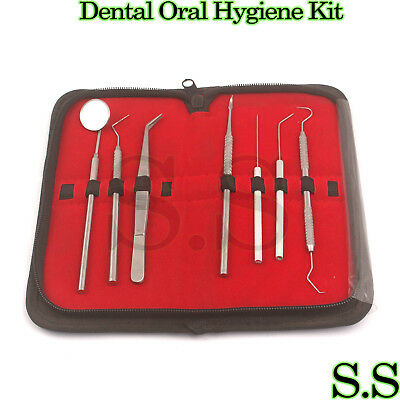 Professional Dental Oral Hygiene Kit 7 Tools Deep Cleaning Scaler Teeth Care Set