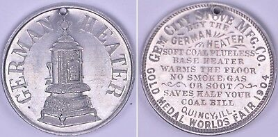 1904 Token Medal St Louis Worlds Fair Louisiana Purchase Exposition H-61-90 Usa