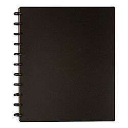 TUL Custom Note-Taking System Discbound Notebook, Letter Size, Poly Cover, Black
