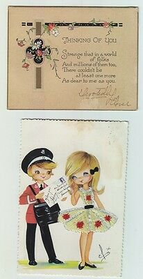 Lot Of 2 Vintage Love Postcards 1929, 1972