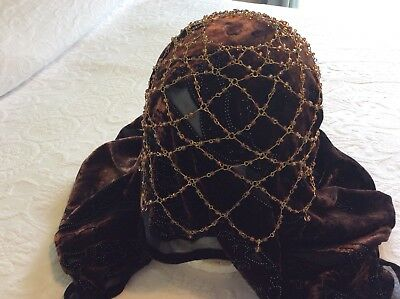 Vintage Glass Beaded Flapper Bohemian Hair Piece