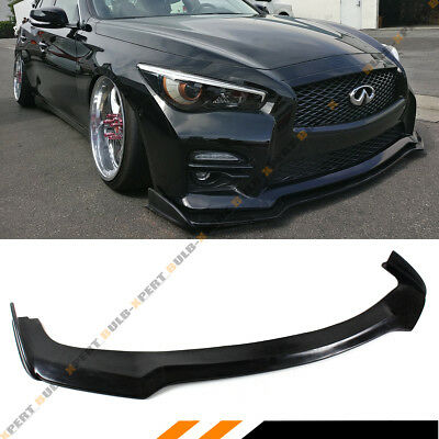 Jdm Nis Style Front Bumper Lip Splitter For 2014-2017 Infiniti Q50 S Sport Model