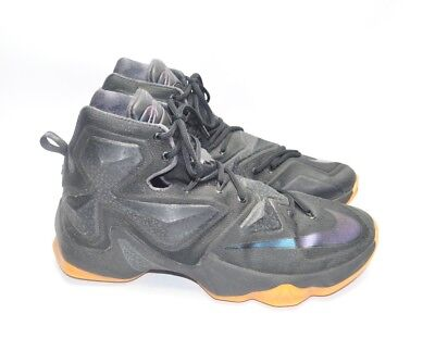 official photos 79ccb a91a8 NIKE Lebron James XIII 13 Black Lion Anthracite 807219-001 Mens Size 9.5