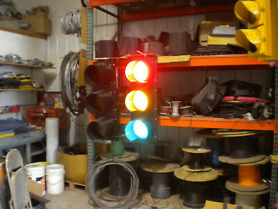 Three Section  Traffic Signal 12 inch McCains LED RYG inserts