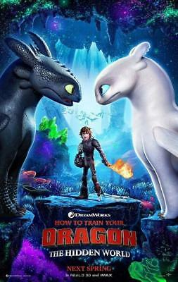 """How to Train Your Dragon 3 The Hidden World Movie Poster 13x20"""" 24x36"""" 27x40"""""""
