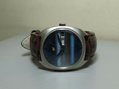 Superb Vintage Enicar Automatic Day Date Swiss WRIST WATCH Old Used ANTIQUE e995