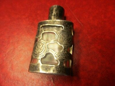 Antique Sterling Silver & Glass Perfume Bottle