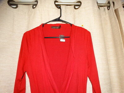 NWT new THE LIMITED womens medium deep red slinky top shirt