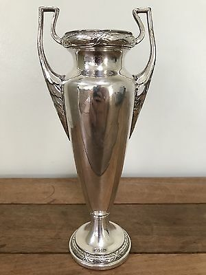 A Wmf Two Handled Art Deco Silver Plate Vase