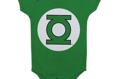 GREEN LANTERN - Baby Body Logo - Green (6 Month)