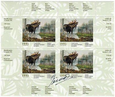 1995 Canada Quebec Wildlife Habitat Conservation -QW8e signed Mint NH 4 stamps