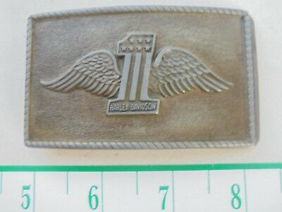 *Harley-Davidson #1* With Wings Buckle-Vtg