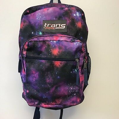 Trans by Jansport SuperMax backpack book bag purple galaxy excellent  condition 3b5b35263fe62