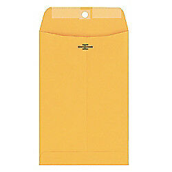 Columbian(R) Clasp Envelopes, 6in. x 9in., 28-Lb, Brown Kraft, Box Of 100