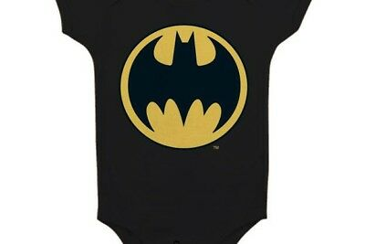 BATMAN - Baby Body Logo - Black (6 Month)
