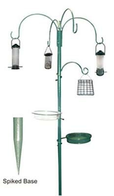 Bird Feeder Garden Feeding Station Wild Birds Hanging Seed Feeders Metal Plastic
