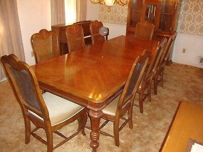 Formal 8 Chair Dining Table Set - LOCAL PICK-UP ONLY