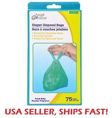Baby Diaper Disposable Bags Sacks Tie Close Handles -Scented- Pick your Quantity