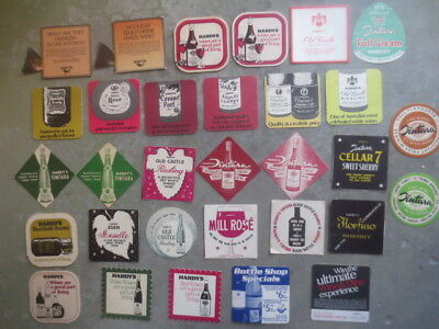 30 different HARDY,S / TINTARA  Wines,1970 - 2000,s Issued Advertising COASTERS