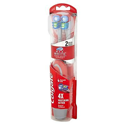 Colgate 360 Degrees Max White Battery Two Head Pack - Choose Colour