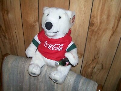 Coca Cola Plush Polar Bear, 10 Inches Tall,   Never Been Played With