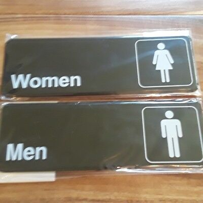 "Women/Men Restroom Signs WinCo SGN-312 SGN-311 3"" x 9"""