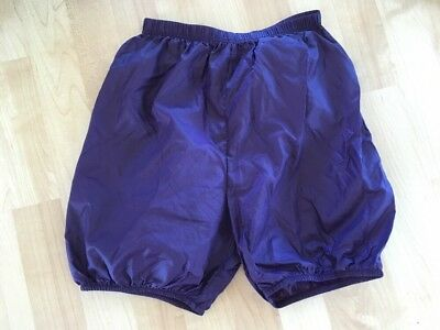 Body Wrers Dance Warm Up Trash Bag Shorts Small Purple