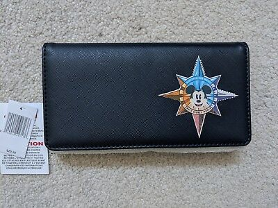 Disney Parks Compass Wallet Mickey Navy Blue $29.99