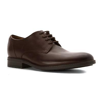 Wide 353869 Clarks Mens Kenneth Brown Leather Oxford Dress Shoe Size 9.5
