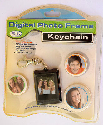 """Digital Concepts 1.5"""" Digital Photo Frame Keychain Color Monitor 12697, NEW"""
