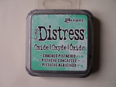 "Tim Holtz Distress Oxide Ink Pad Cracked Pistachio Full Size 2"" Bnip *look*"