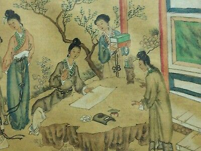 Antique Chinese Republic Original Ink Painting Signed W/ Wood Framed