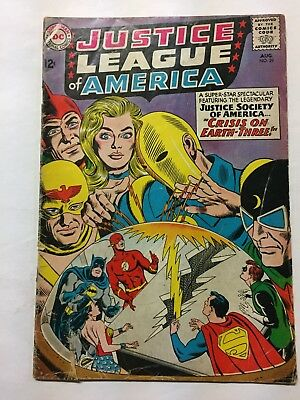 Justice League of America 29, 1964 Silver Age DC Early JSA Xover! Lower grade
