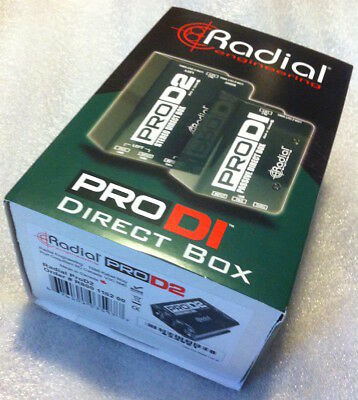 Radial ProD2 Stereo Passive Instrument Direct Box - Brand New & Ships Free